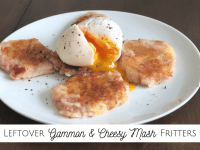 Leftover Gammon and Cheesy Mash Fritters...