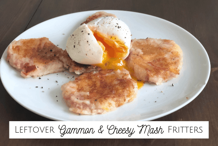 Leftover Gammon and Cheesy Mash Fritters
