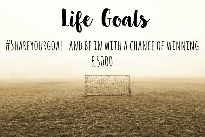 #shareyourgoal to win £5000….