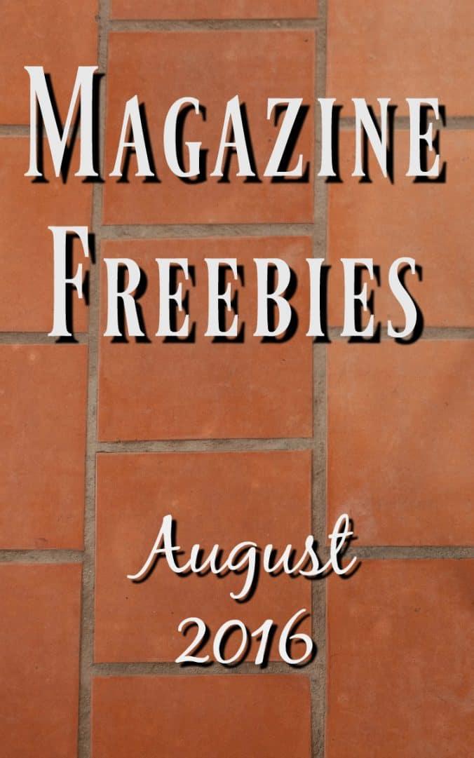 August Magazine freebies - August 2016