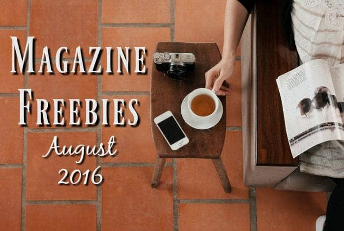 Magazine freebies - August 2016