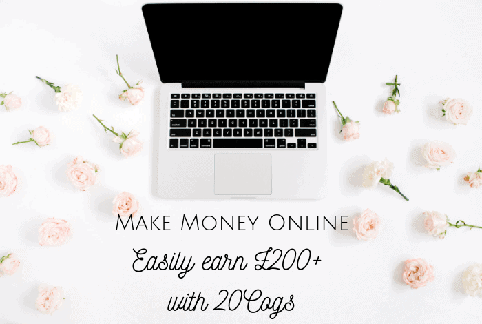 Make Money Online - Easily earn £200+ with 20Cogs! #makemoneyonline #makemoney #earnmoney