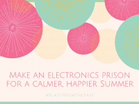 An 'Electronics Prison' My Secret to an attitude free summer of good behaviour....