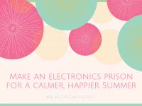 An 'Electronics Prison' My Secret to an attitude free summer of good behaviour....
