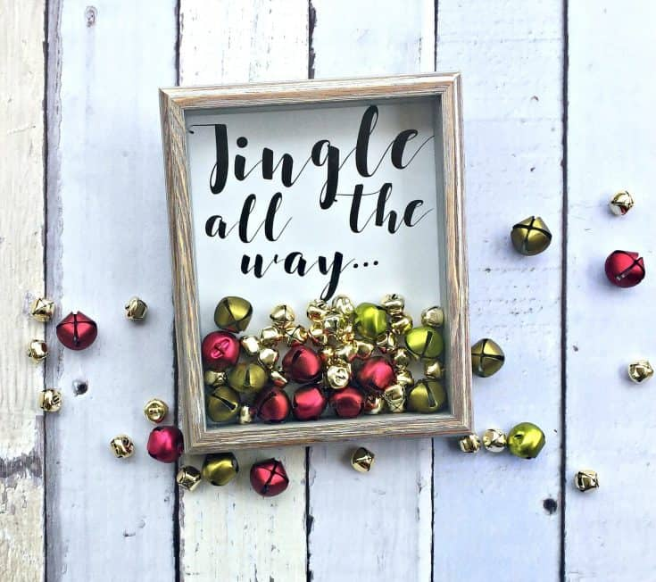 DIY Jingle All The Way wall art