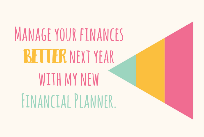 Manage your finances BETTER next year with my new Financial Planner.
