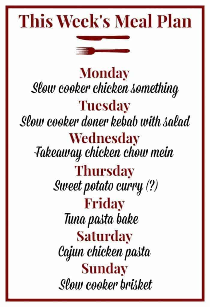this weeks meal plan