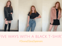 Five Ways to Wear a 99p Black T-Shirt.... #SecondHandSeptember