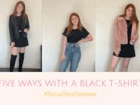 Five Ways to Wear a 99p Black T-Shirt.... #SecondHandSeptember