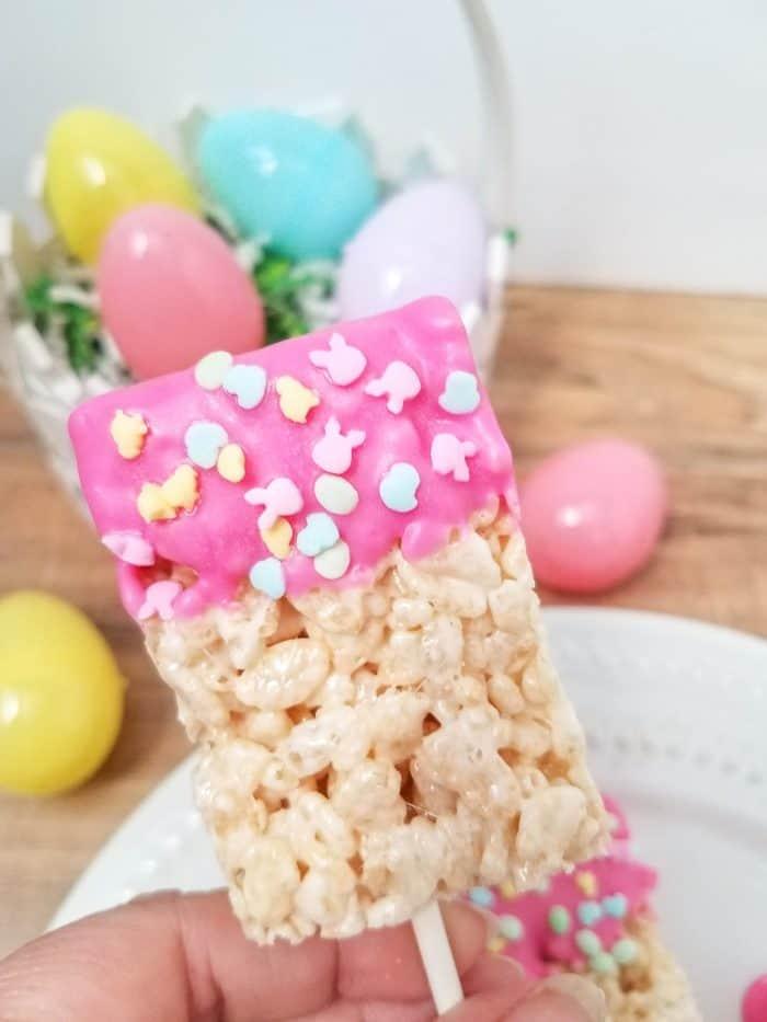 Rice Krispies Pops with Easter Sprinkles