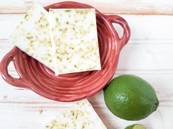 Homemade Zesty Coconut and Lime Soap....