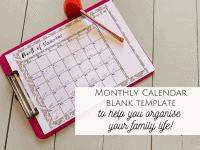 Monthly Blank Calendar Template...