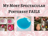 Four of my most spectacular Pinterest fails....