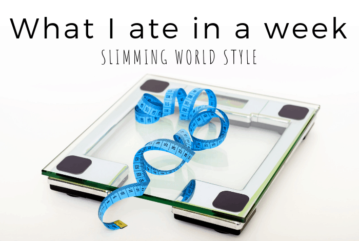 What I ate in a week - Slimming World Style
