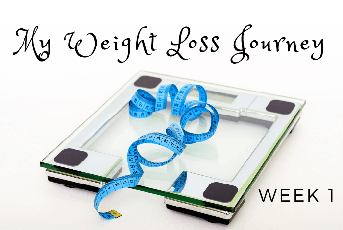 My weight loss journey - week 1