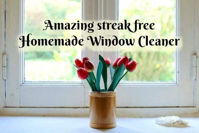 My secret to streak free windows is my amazing streak free Homemade Window Cleaner which costs pennies and works way better than shop bought equivalents!