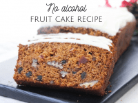 No Alcohol Fruit Cake Recipe...