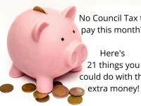 No Council Tax to pay this month? Here's 21 things you could do with the extra money you'll have....