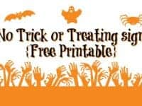 No Trick or Treating sign {Free Printable for Halloween}....