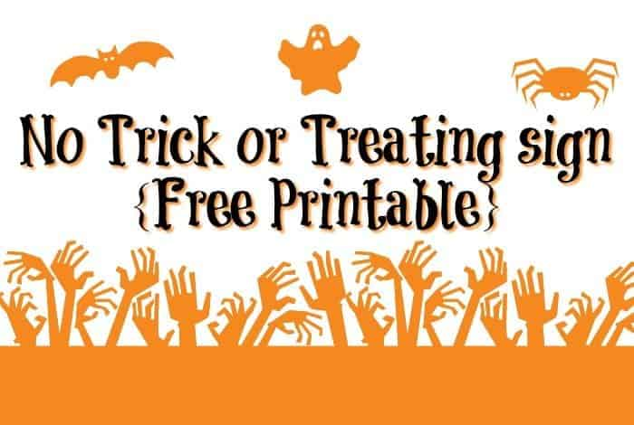 No Trick or Treating sign {Free Printable}....