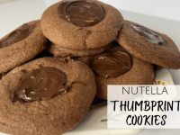 Nutella Thumbprint Cookies....