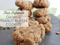 Four Ingredient Oatmeal Peanut Butter Cookies....