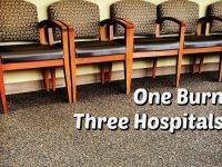 One burn - three hospitals....