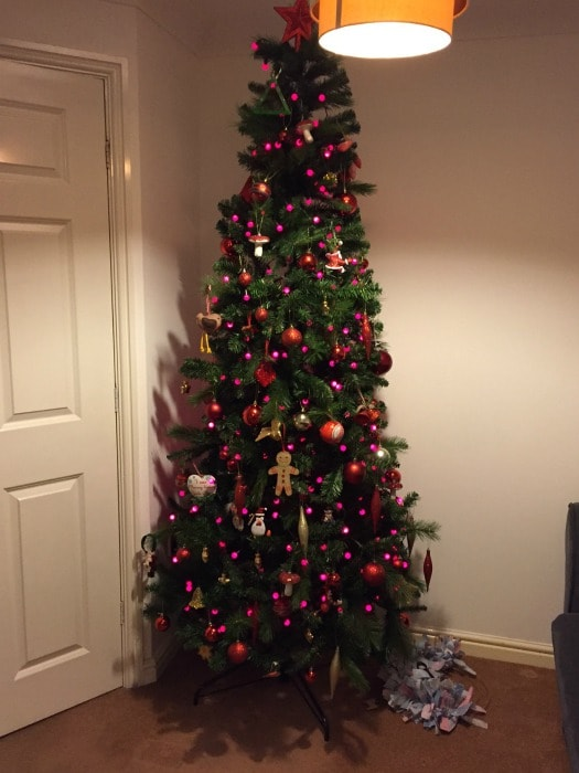 Our artifical Christmas tree