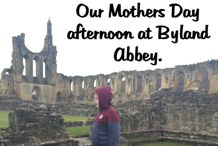 Our Mothers Day afternoon at Byland Abbey.