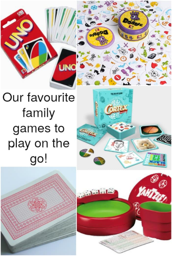 Our favourite family games to play on the go!