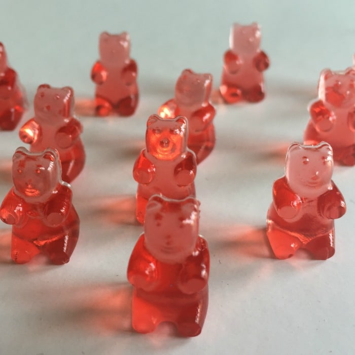 Pink Prosecco flavoured gummy bears….