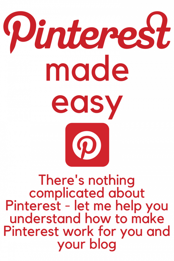 Pinterest made easy - because there's nothing complicated about Pinterest and no reason why you can't harness the power of Pinterest to grow your blog.