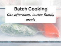 Batch Cooking - One afternoon, twelve family meals....