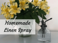 Thrifty Homemade Linen Spray - perfect for refreshing your sheets....