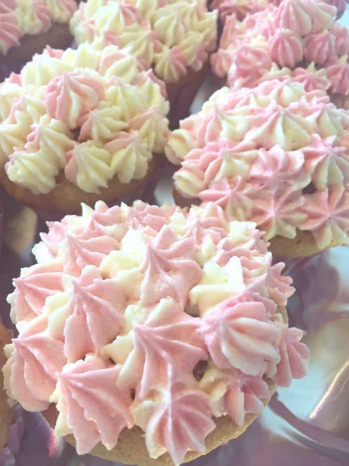 Pretty Pink Marbled Cupcakes