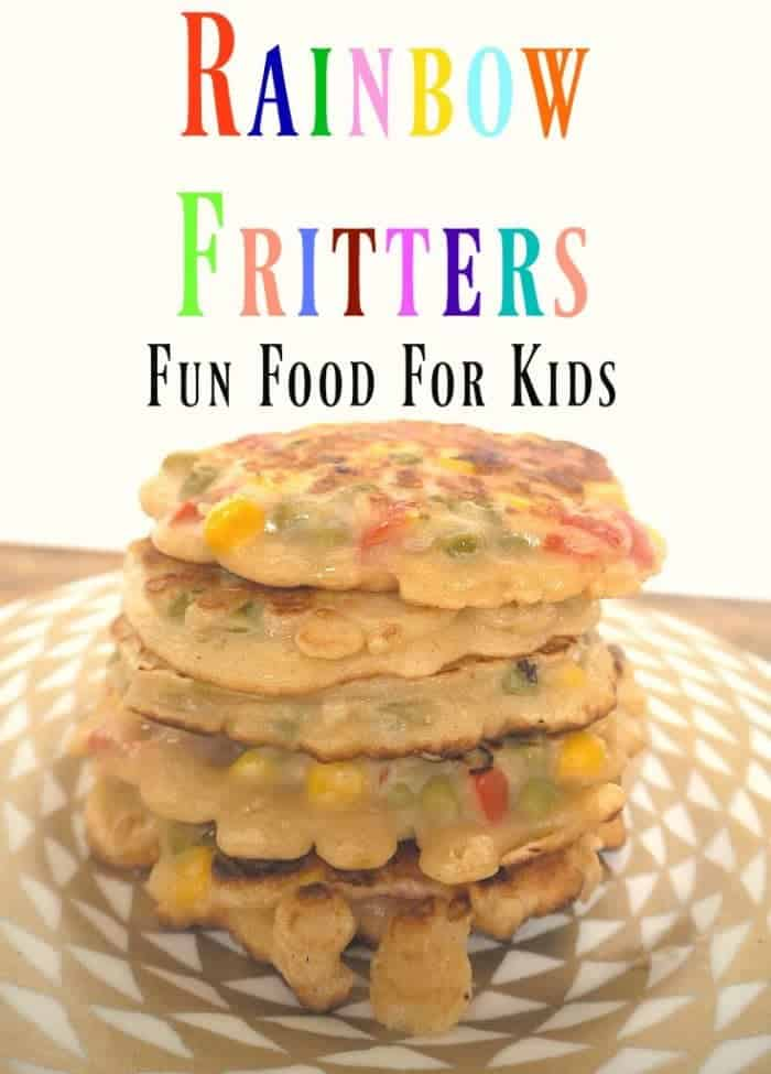 Rainbow Fritters Fun Food For Kids