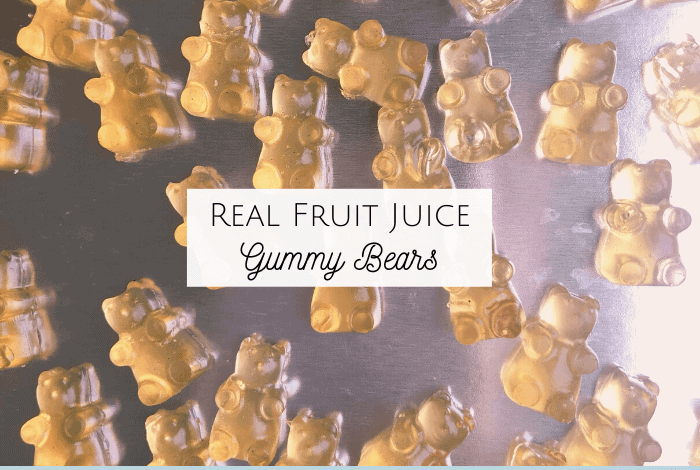 Real Fruit Juice Gummy Bears!
