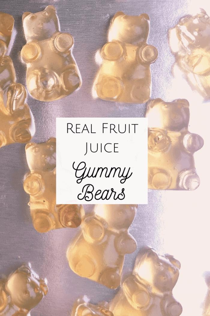 Real Fruit Juice Gummy Bears!