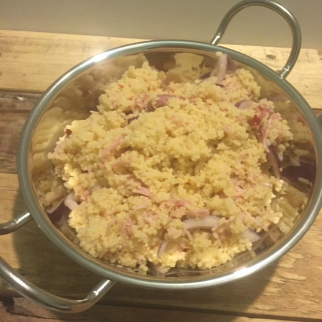Red Onion and Gammon COus COus