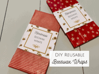 How to make DIY Beeswax Wraps {with a free printable label}....