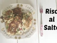 Riso Al Salto - A great way to use up leftover risotto....