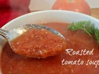 Homemade Healthy Roasted Tomato Soup....