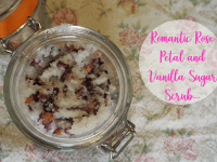 Romantic Rose Petal and Vanilla Sugar Scrub....