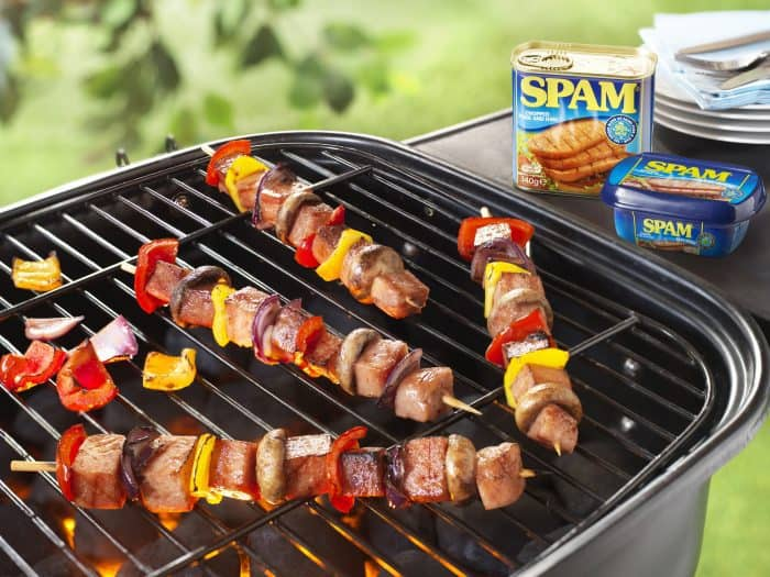 Treat family and friends to something much more exciting than the usual bangers and burgers this BBQ week; made from a minimum of 90% prime shoulder pork and leg ham, SPAM® Chopped Pork and Ham is the perfect quick and easy meat for an alfresco feast whether at home or on the campsite.