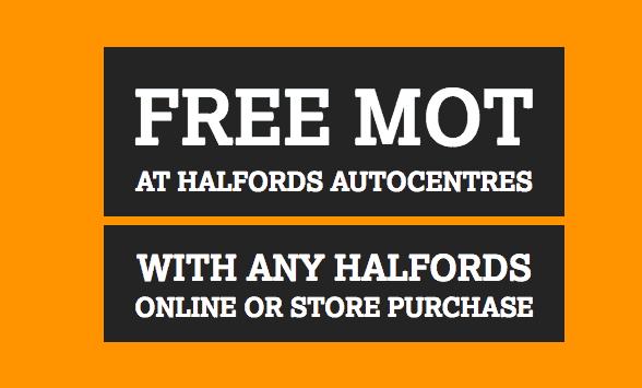 Free Halfords MOT
