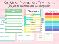 6 new meal planning templates to help you keep track....