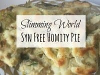 Slimming World Syn Free Homity Pie - the best comfort food you'll eat....