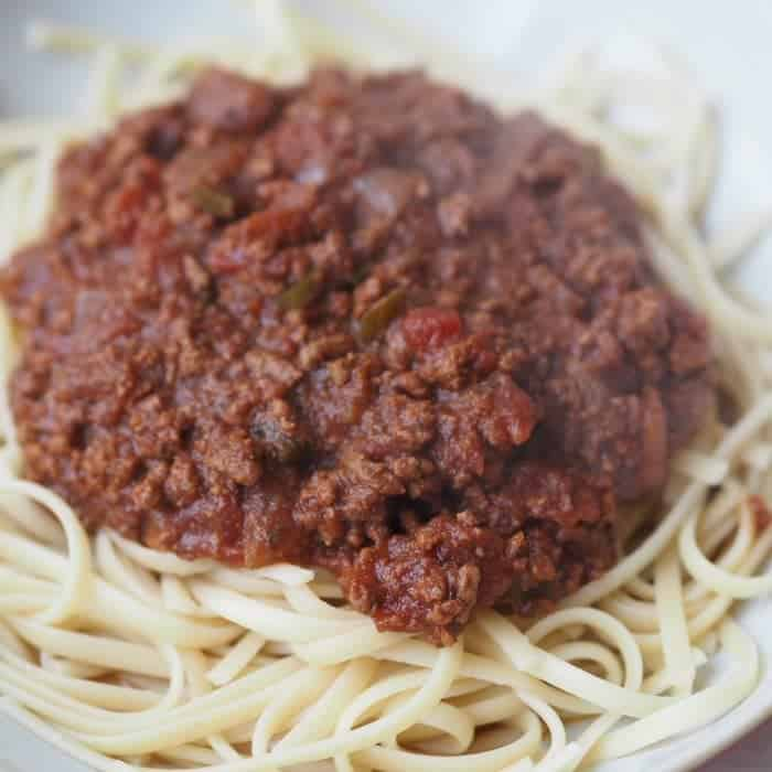 Slow Cooker bolognese recipe