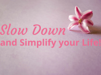 35 ways to slow down and simplify life...