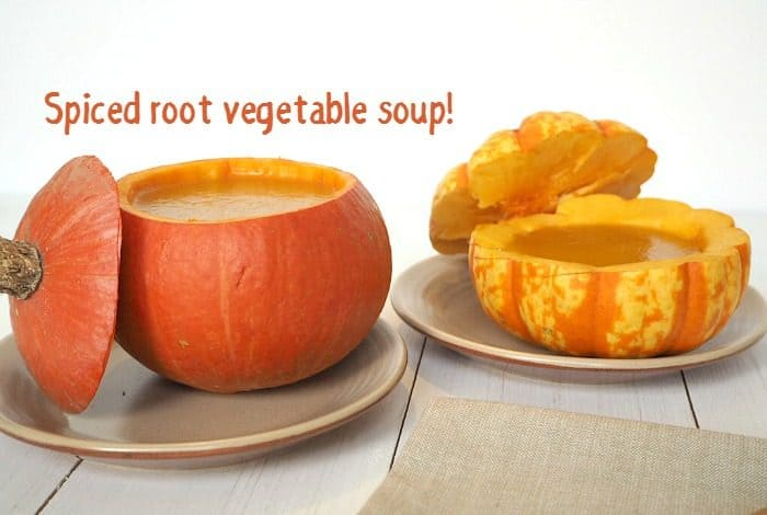 Spiced root vegetable soup - just what you need to warm you up....
